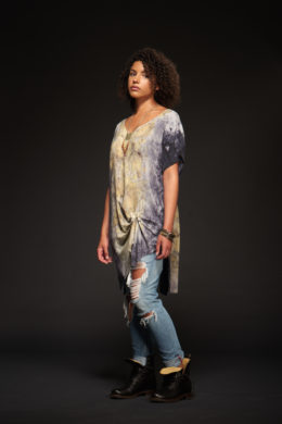Lotus Boho V-Neck Tunic
