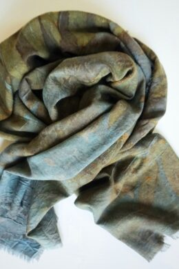 Wool Scarf Wrap printed by hand